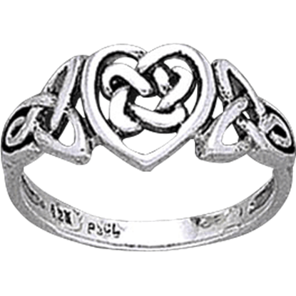 Celtic Heart and Knotwork Ring