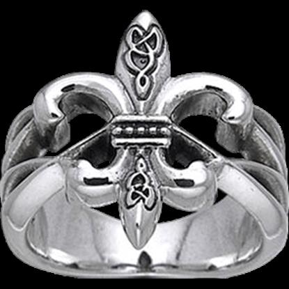 Celtic Fleur De Lis Ring