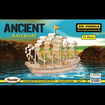 Ancient Sailboat 3-D Puzzle