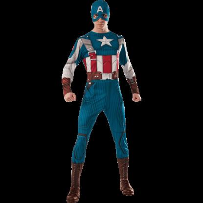 Adult Retro Captain America Costume