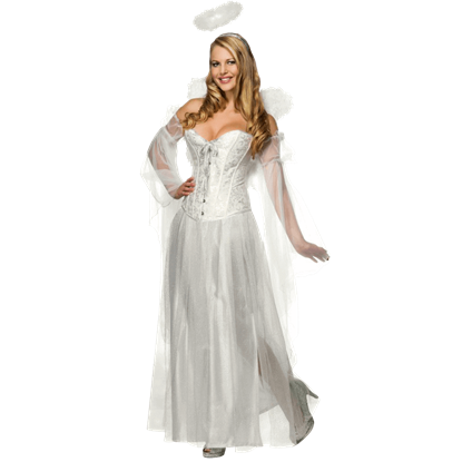 Secret Wishes Deluxe Angel Corset Costume