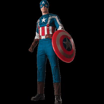 Adult Deluxe Retro Captain America Costume