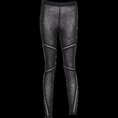 Gothic Crisscross Lace Leggings