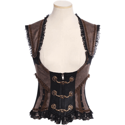 Steampunk Underbust Front Clasp Vest