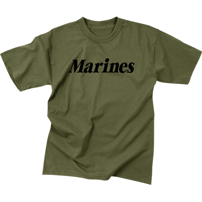 Kids Olive Drab Marines T-Shirt