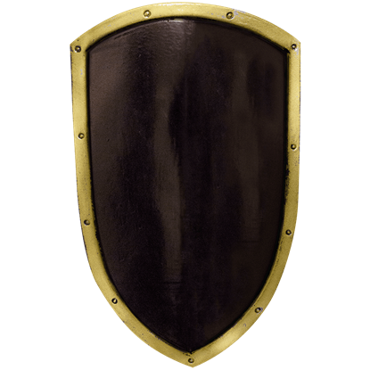 Black and Gold Ready For Battle LARP Kite Shield