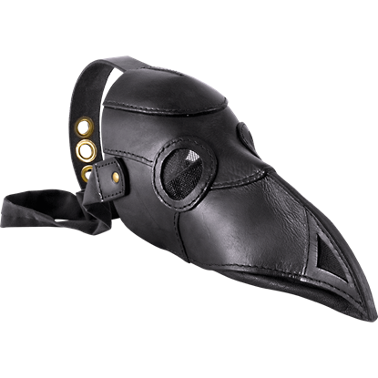 Leather Plague Doctor Mask