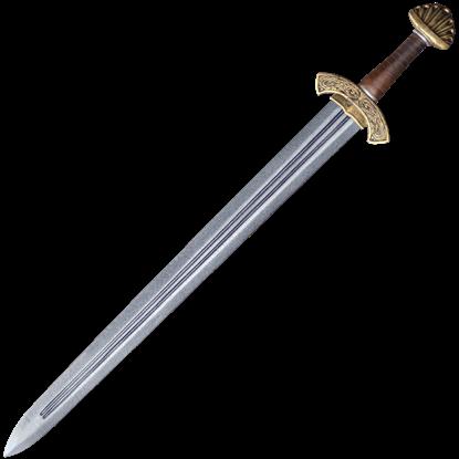 Carved Hilt Viking Short LARP Sword