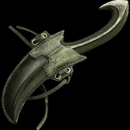 Dark Elven Throwing Knife and Holder
