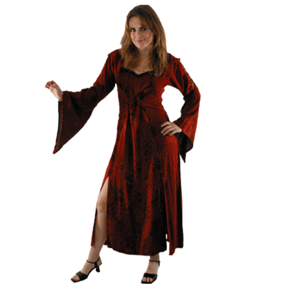 Long Bell Sleeved Dress