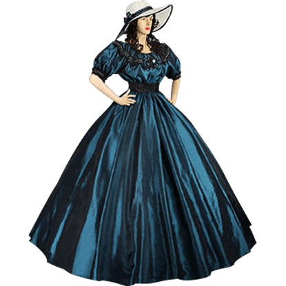 Blue-Green Civil War Dress