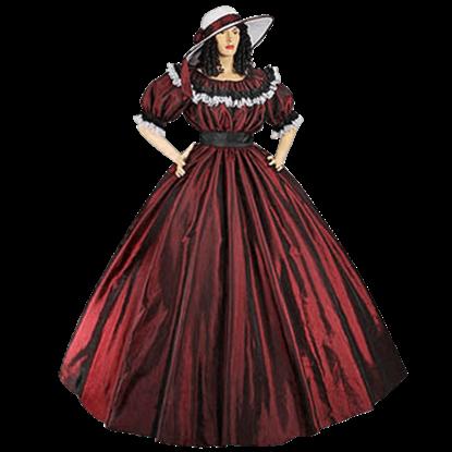 Dark Red Civil War Dress