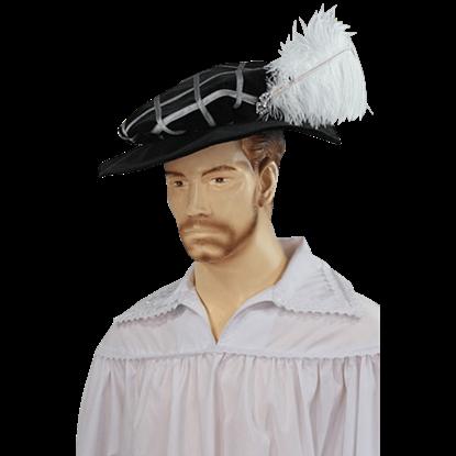 Feathered Floppy Renaissance Hat