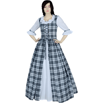 Black and White Scottish Tartan Dress