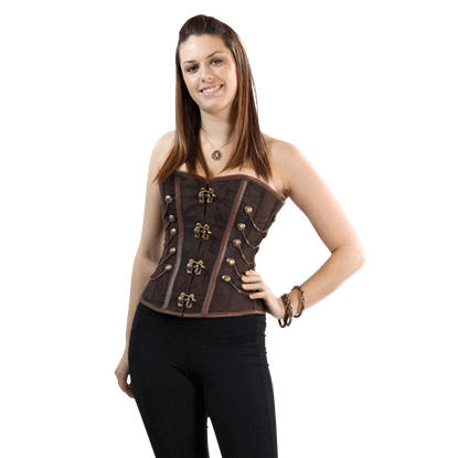 Clasp Closed Chain Steampunk Overbust Corset