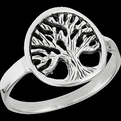 Sterling Silver Branching Tree Ring