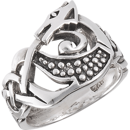 Sterling Silver Dragon Knot Ring