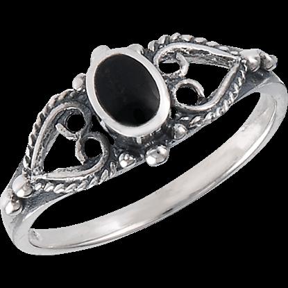 Classic Onyx Scrollwork Ring