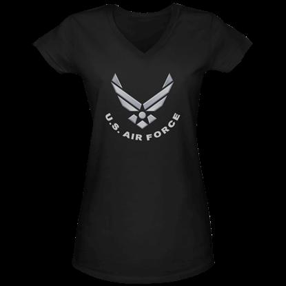 Air Force Silver Logo Womens V-Neck