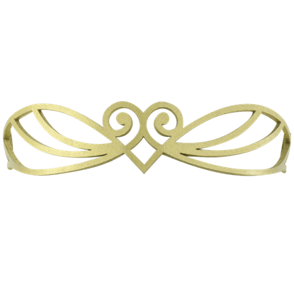Elven Swirl Leather Headband