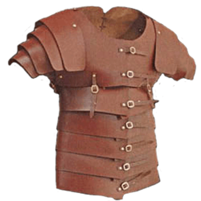 Leather Lorica Segmentata - 7/8 oz.
