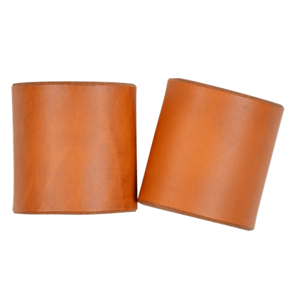 Plain Leather Wrist Cuffs