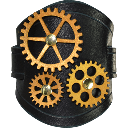 All Geared Up Steampunk Wrist Cuffs