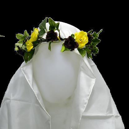 English Rose Floral Head Wreath