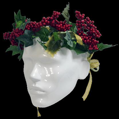 Winter Berry Floral Head Wreath