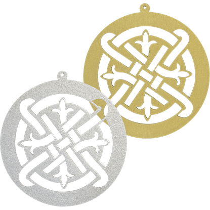 Celtic Fleur Filigree Ornament Set of 6