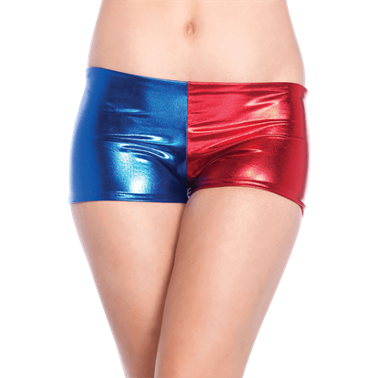 Blue and Red Booty Shorts