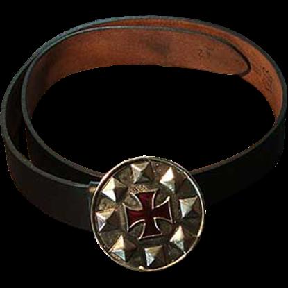 Crusaders Cross Buckle Belt