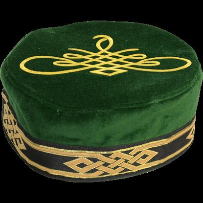 Flemish Pill Hat with Celtic Applique