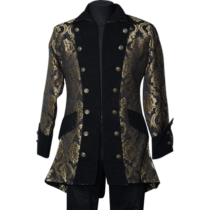 Gothic Gold Brocade Pirate Jacket