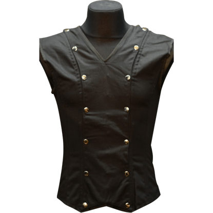 Gothic Black V-Neck Shaper Vest