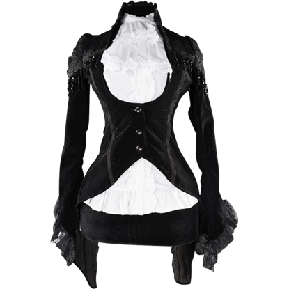 Black Gothic Victorian Tailcoat Jacket