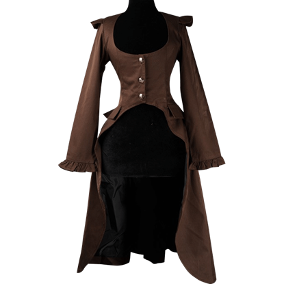 Brown Steampunk Elegant Aristocrat Coat