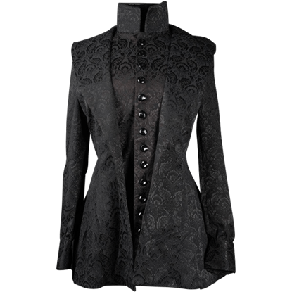 Black Brocade Countess Jacket