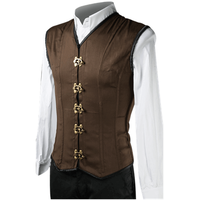 Brown Cotton Clasp Shaper Vest
