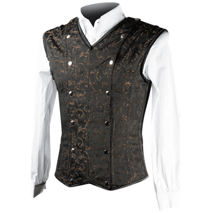Brown Brocade Shaper Vest
