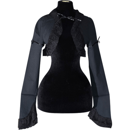 Gothic Black Lace Bolero Jacket