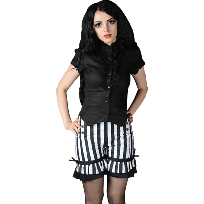 Gothic Striped Bloomer Shorts