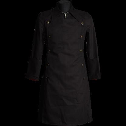 Gothic Black Officer Coat