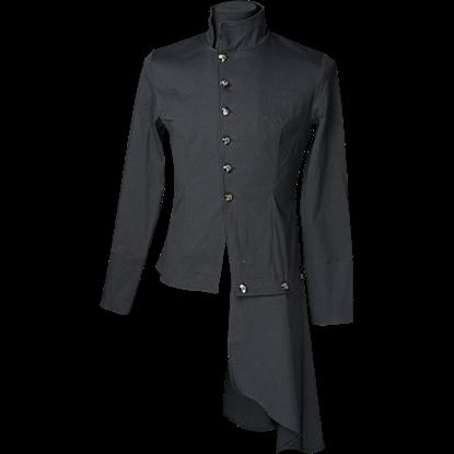 Black Gothic Officer Shirt
