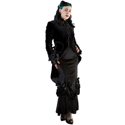 Black Velvet Dress Coat