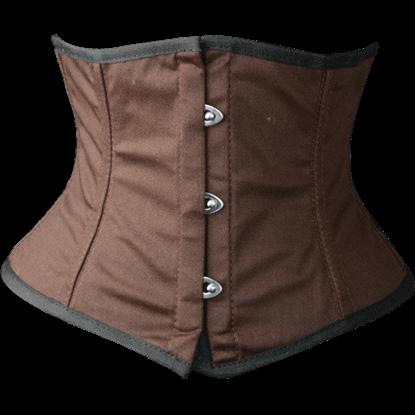 Steampunk Brown Cotton Waist Cincher