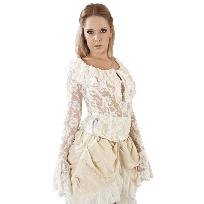 Brenda Cream Lace Victorian Top