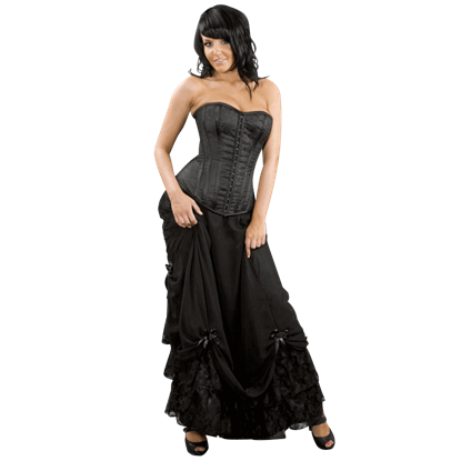 Alexandra Black Victorian Skirt