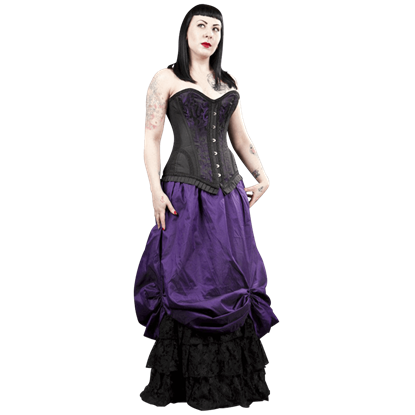 Alexandra Purple Taffeta Victorian Skirt