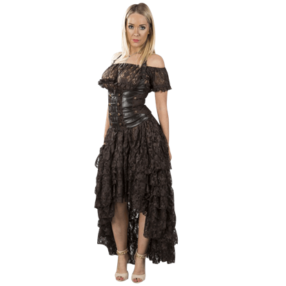 Amelia Brown Lace Skirt
